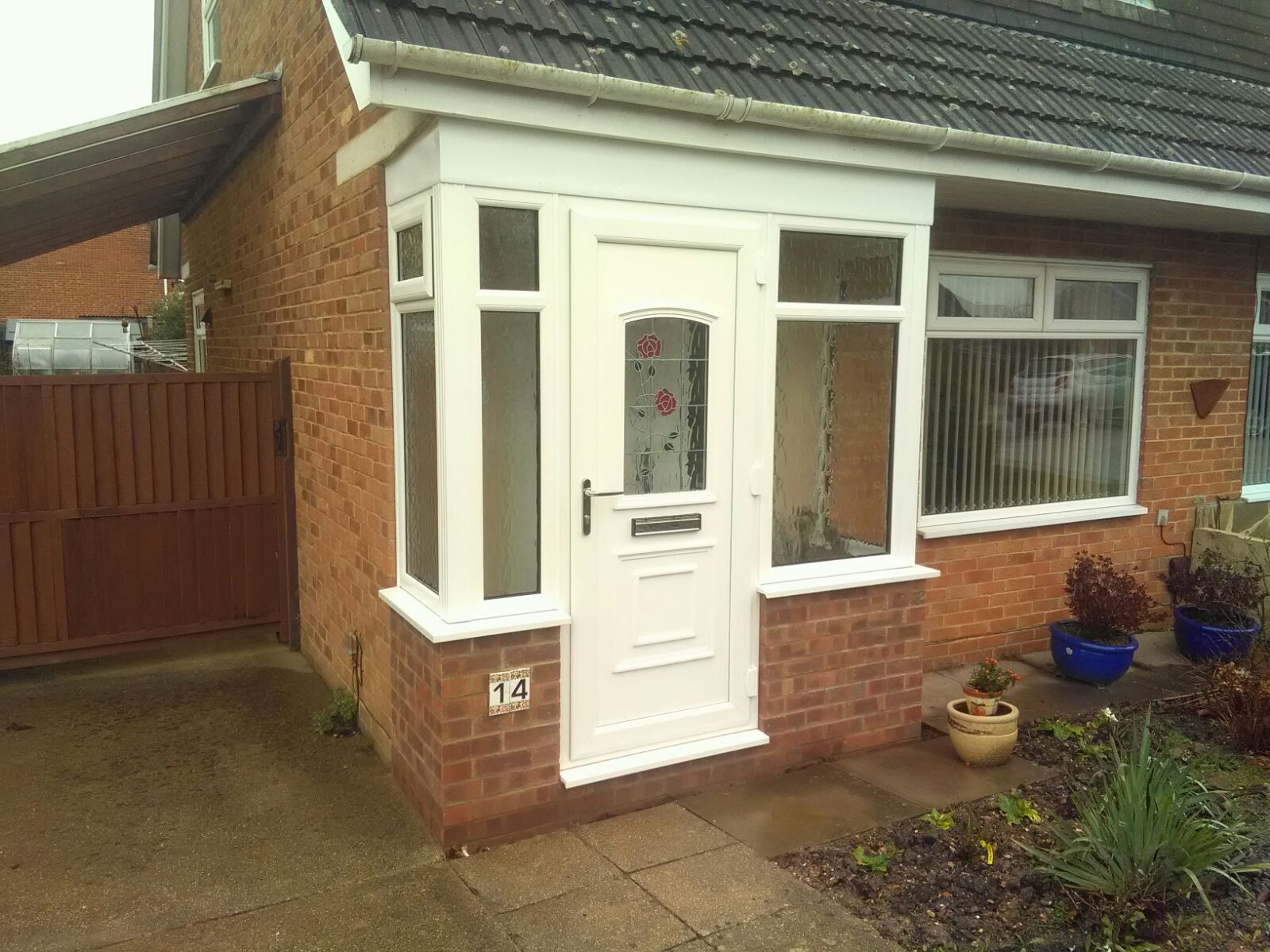 Sandstone steps repair for Double glazed porches