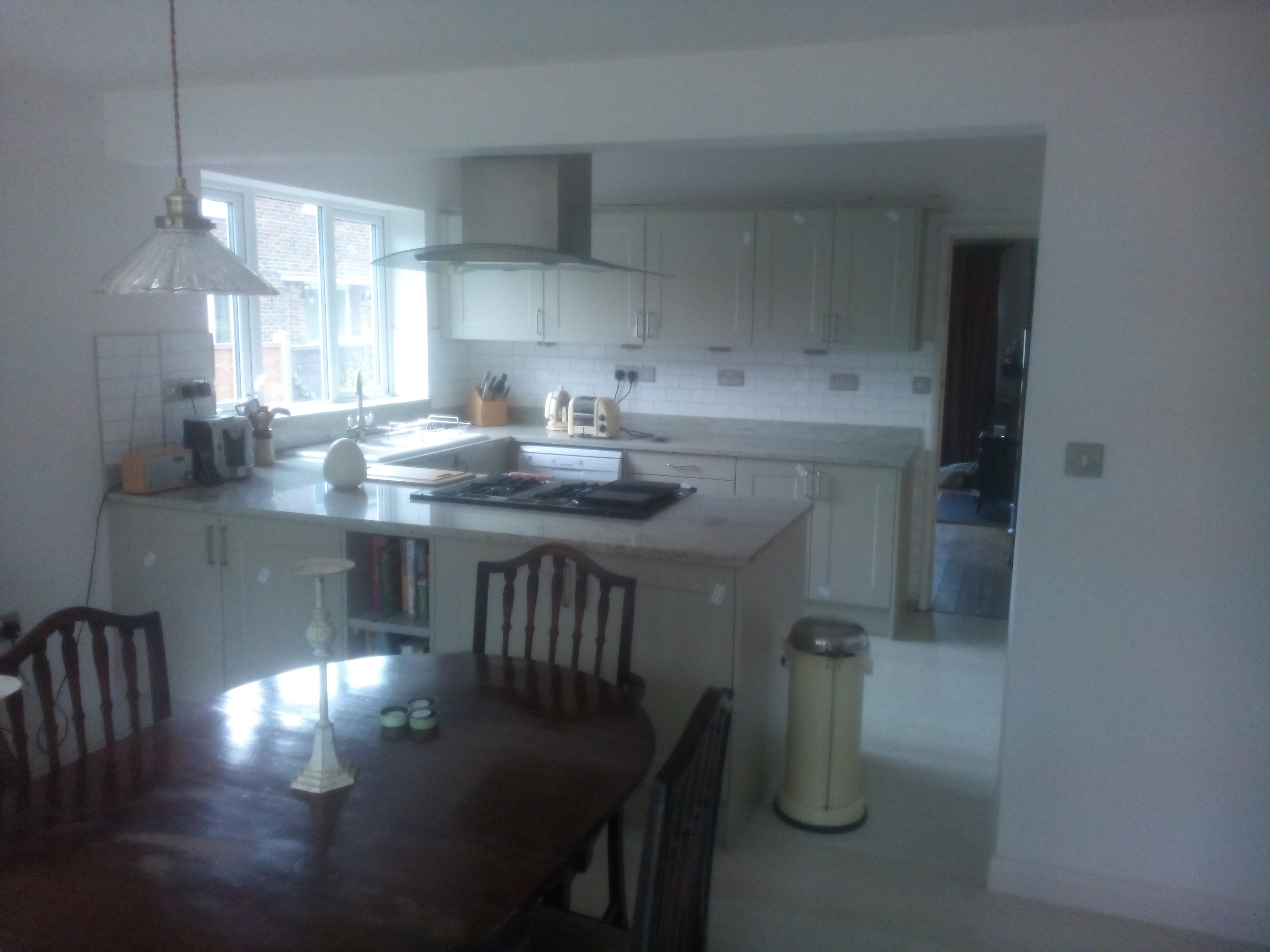 Internal View Of Kitchen And Dining Room Extension